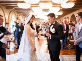poroka, izmenjava poročnih prstanov, poročni par, onaon