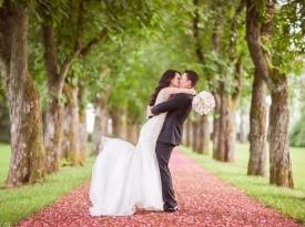 poroka, poročna obleka, nevesta, ženin, šopek, zaobljuba, onaon