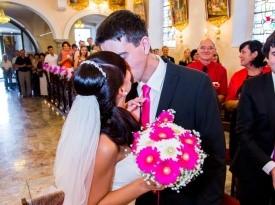poročni par, poročni poljub