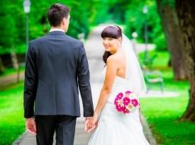poročna obleka, mod art, galerija emporium, par