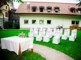 poročni prostor, jezeršek, pogostitev