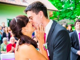 poročni prostor, jezeršek, pogostitev, poročni par