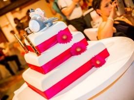 poročna torta, kavarna lunca