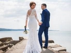 poroka, nevesta, poročna obleka, čipkasta poročna obleka, ženin, ljubezen, zaobljuba