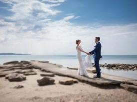 poroka, poročni par, zaobljuba, izola, poroka na obali, nevesta, ženin, mornarska poroka
