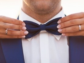 poroka, poročna zabava, ženinov metuljček, ženin, obleka