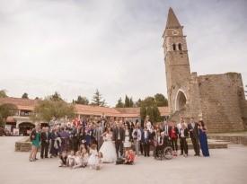 Skupinska fotografija, poročna fotografija.