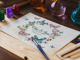 Poročna vabila, poročne tiskovine, poročne zahvale, vabila za poroko, Eving oblikovanje, Zaobljuba.si
