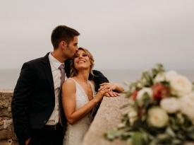ženin, nevesta, poroka, poročni šopek