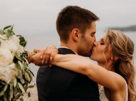 nevesta, ženin, poroka, poljub