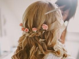 nevesta, poročni make up, poročna pričeska