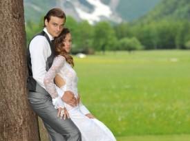 Ženin in nevesta Anja in Nejc