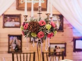 Poročna dekoracija mize.