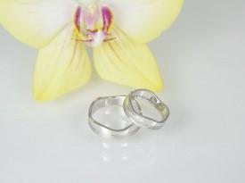 Belo zlato, poročna prstana, poročna prstana po naročilu.