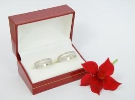 Poročni prstan, belo zlato, poročna prstana.