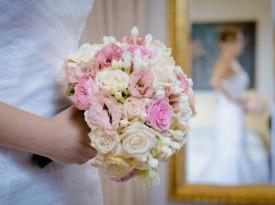 Poročni šopek, poroka