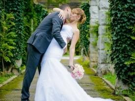 Poročni poljub, ženin, nevesta