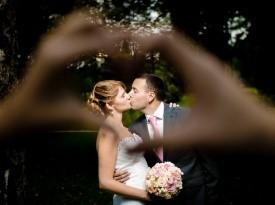 Ženin, nevesta, poroka, poročno fotografiranje