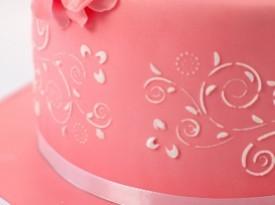 Torte Špela - roza poročna torta