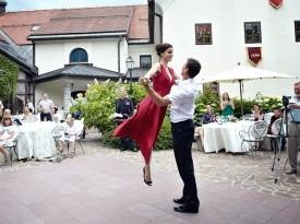 Kendov dvorec, poroka, ženin, nevesta, poročni ples, prvi ples