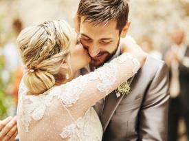 Poročni poljub Aida in Dragan Gaič