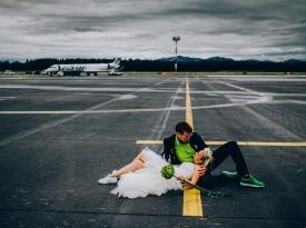 Poročna fotografija, poroka, ženin in nevesta