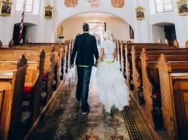 poročni obred, mož in žena, ženin in nevesta, poročna obleka