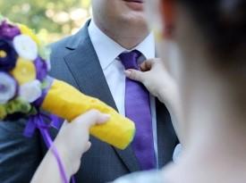 Priprava na poročno fotografiranje.