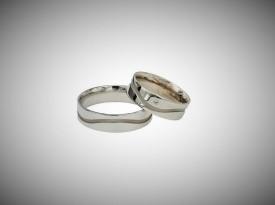 Poročna prstana iz belega zlata.