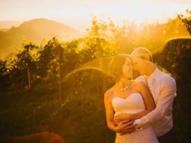 Poročno fotografiranje med vinogradi