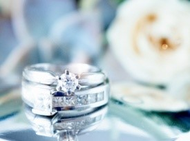Poročni prstan, belo zlato, Zlatarna Celje, Zaobljuba.si