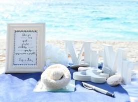 Poroka ob morju, poročna dekoracija, Zaobljuba.si