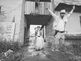 poroka, poročni par, zaobljuba, cirkuška poroka, odštekana poroka