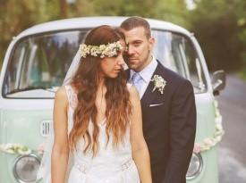 poročni fotograf, poročni par, nevesta, poroka, zaobljuba, ženin, oldschool vw wan