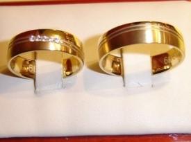 Zlata poročna prstana, poročni prstan.