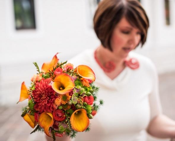 Poročni šopek in poročno cvetje.