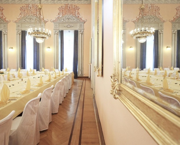 Poročni prostor, Terme Dobrna, poročna dvorana v Zdraviliškem domu