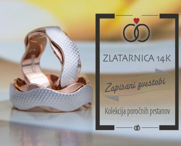 Poročni prstan, Zlatarnica 14k, Zaobljuba.si