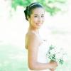 nevesta, poročna obleka, poročni šopek, portretna fotografija
