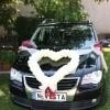 poročna dekoracija, baloni, magic, poročno vozilo