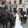 poroka, prevoz na poroko, kočija, prevoz s kočijo