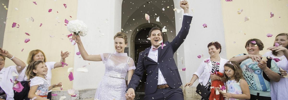 Poroka, poročni par, jezeršek, zaobljuba