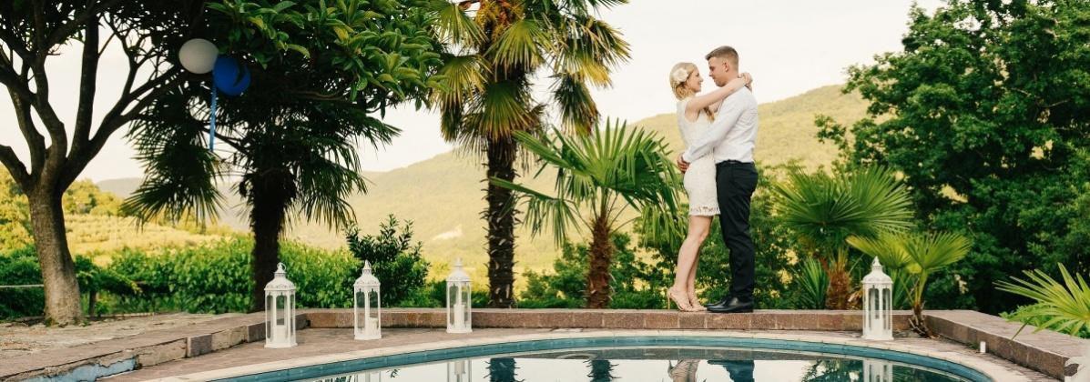 Poroka, poročni par, sanjska poroka, zaobljuba, ljubezen
